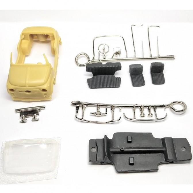 Kit Incomplet : FIAT 500 GHIA - Résine - 1:43