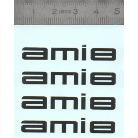 Décalcomanie - AMI8 - Citroën - Lot de 4