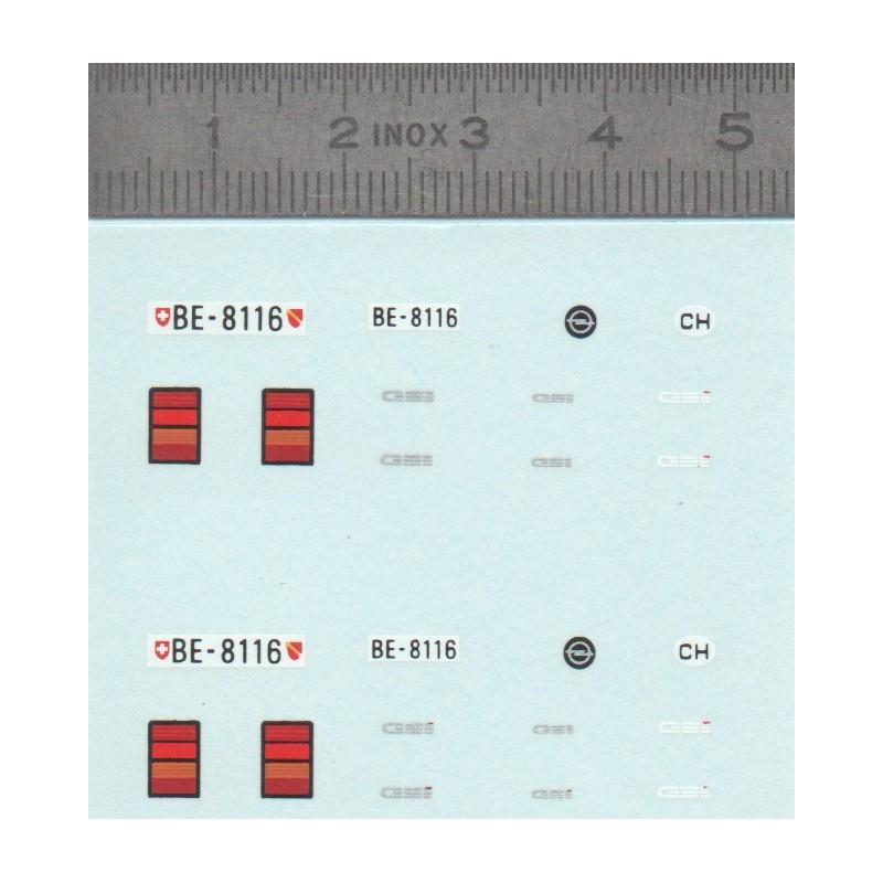 Décalcomanie - OPEL GSI - Plaques Suisse  - Ech. 1:43 - X2