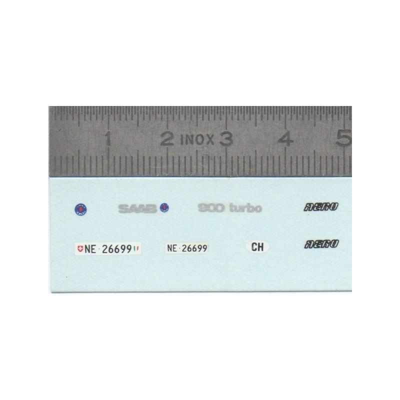 Décalcomanie - SAAB 900 Turbo - Ech. 1:43