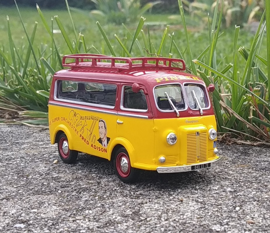 Minibus Peugeot D3A - Orchestre de jazz - PINDER - 1:43 - Altaya