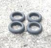 Pneus souples par 4 - ø intérieur 14mm - Ech. 1:43