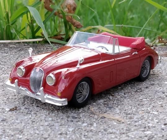 Jaguar XK 150 1958 Cabriolet - Rouge - TWINCAM - 1:43