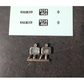 Plaques + Support plaque arrière - Renault Monaquatre - Ech 1:43 - X2