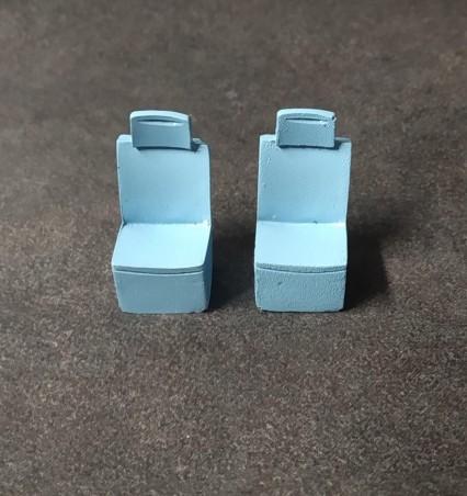 2 sièges Peugeot 806 Runabout - Résine - Bleu - Ech 1:43
