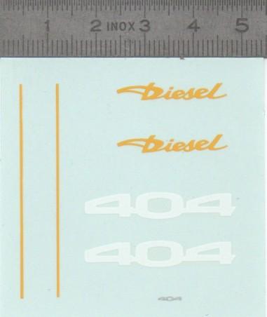 Décalcomanie- PEUGEOT 404 Diesel - Ech 1:43