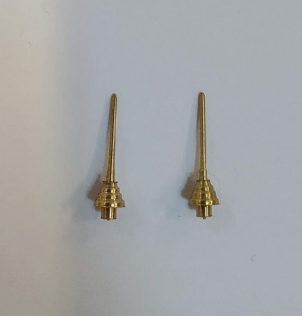 Roof antenna in brass for miniature car - 1:43 - CPC PRODUCTION - Set of 2