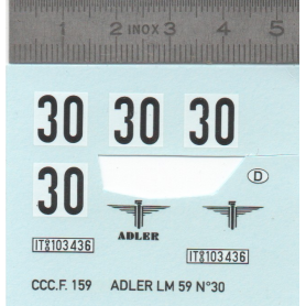 Décalcomanie - ADLER LM 59 N°30 - Ech 1:43