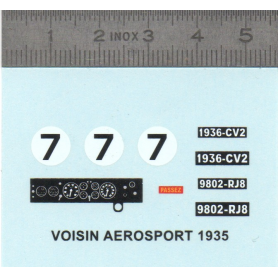 Decal - VOISIN AÉROSPORT 1935 n ° 7 - Scale 1:43