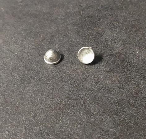 Phares X2  Ø 6mm - Ech. 1:43 - Metal blanc