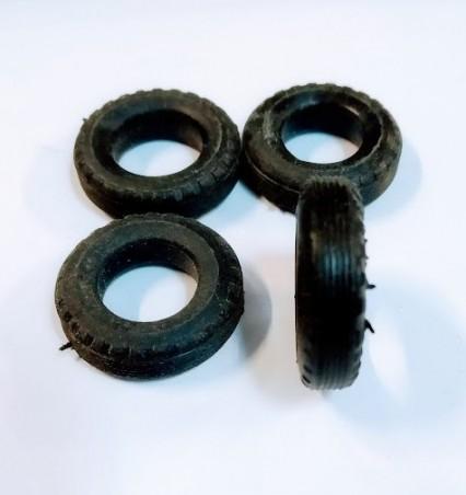 Pneus souples - Exterieur 2 cm - Intérieur 1 cm - Lot de 4