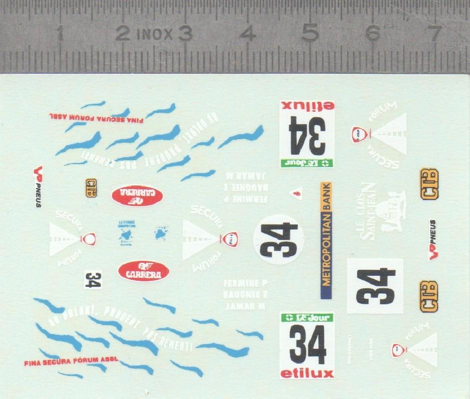 Décalques Rallye n°34 - Ech 1:43