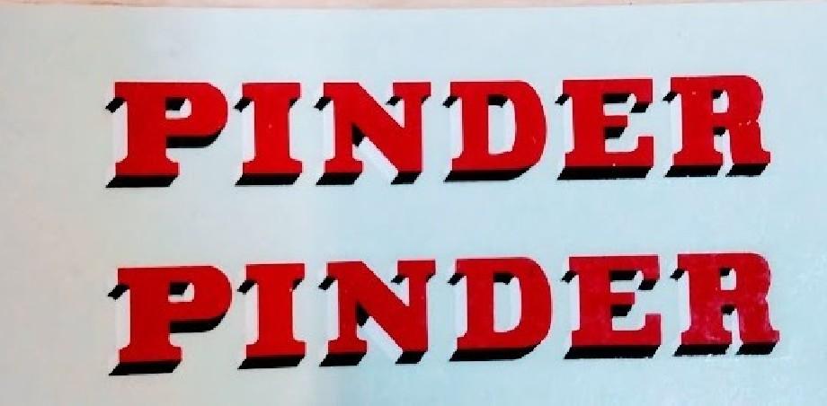 Décalcomanie PINDER - 5cm - Lot de 2