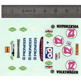 Décalques  Volkswagen N°12 + Publicité - Ech 1:43