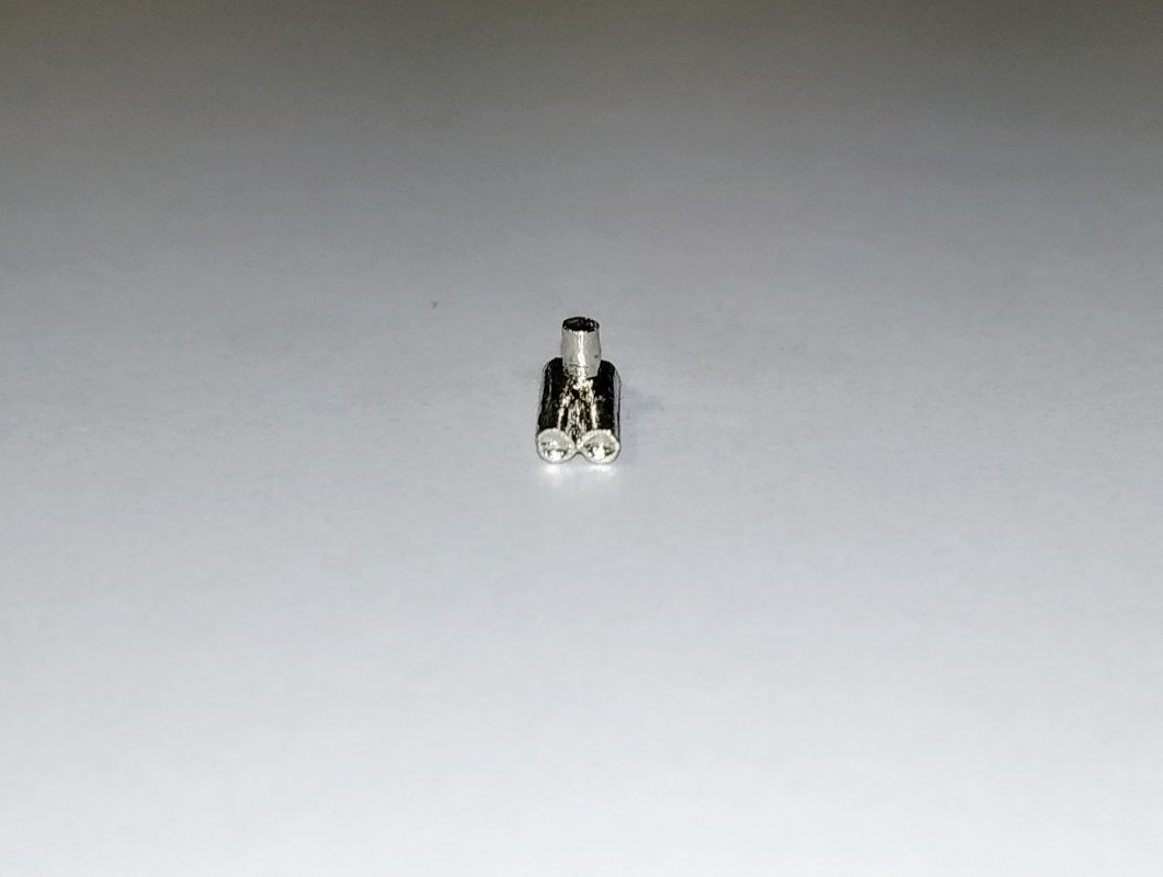 White Metal Sortie échappement Longueur 20 mm X2 Ech 1:43