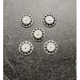 5 Inserts en White Metal  - Ø 9 mm - Ech. 1:43