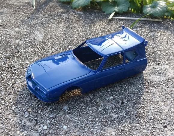 Carrosserie en résine  - Citroën SM Tissier Porte Auto - Bleu - Ech 1:43