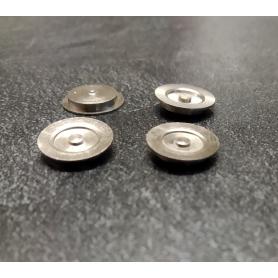 4 flasques creux  en laiton traité (Nickelé) - Ø11 - CPC Production