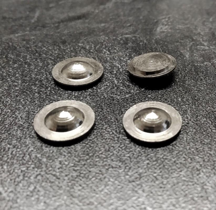 4 flasques bombés  en laiton traité (Nickelé) - Ø11.30mm - CPC Production