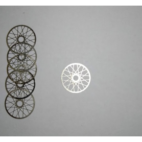 Lot of 10 spokes ø11mm for miniature rims - Photoetched - CPC