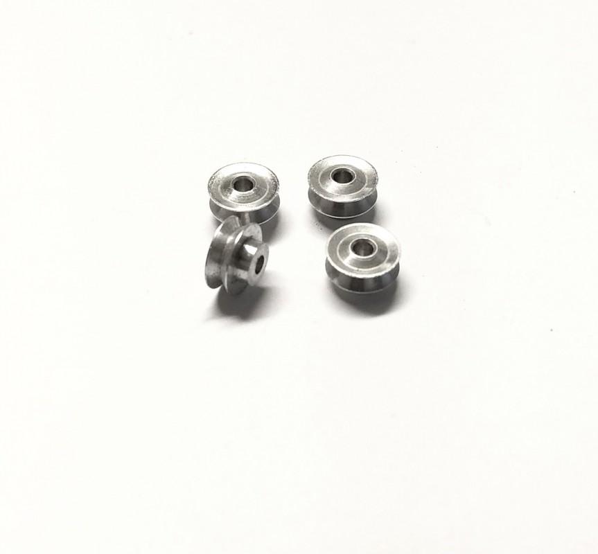 4 Jantes concaves Ø 8mm en aluminium
