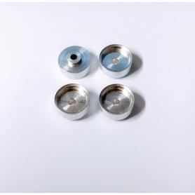 4 Jantes en Aluminium Ø 9.50 x 4.50mm -  Ech 1:43 - CPC Production