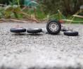4 roues complètes  - Ø 16mm - Ech. 1:43 - White Metal