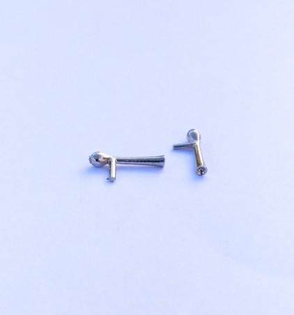 2 Klaxons en white metal - Ech 1:43 - Environ 10.30 mm
