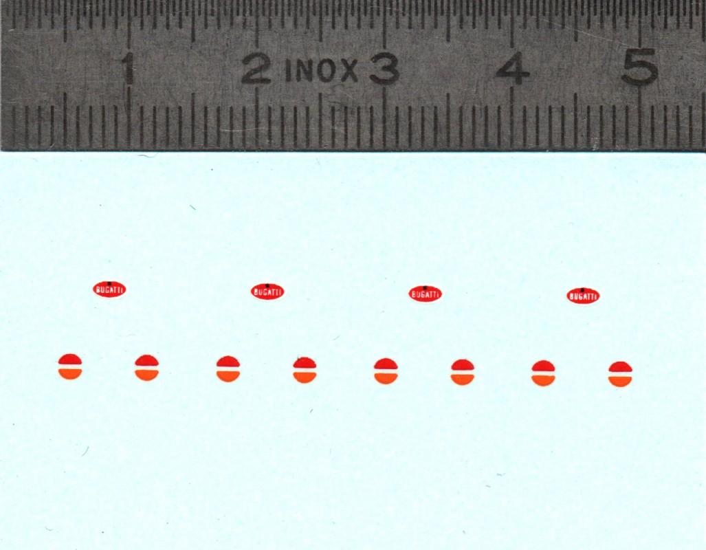 Décalques - Logo et feux pour Bugatti - Ech 1:43