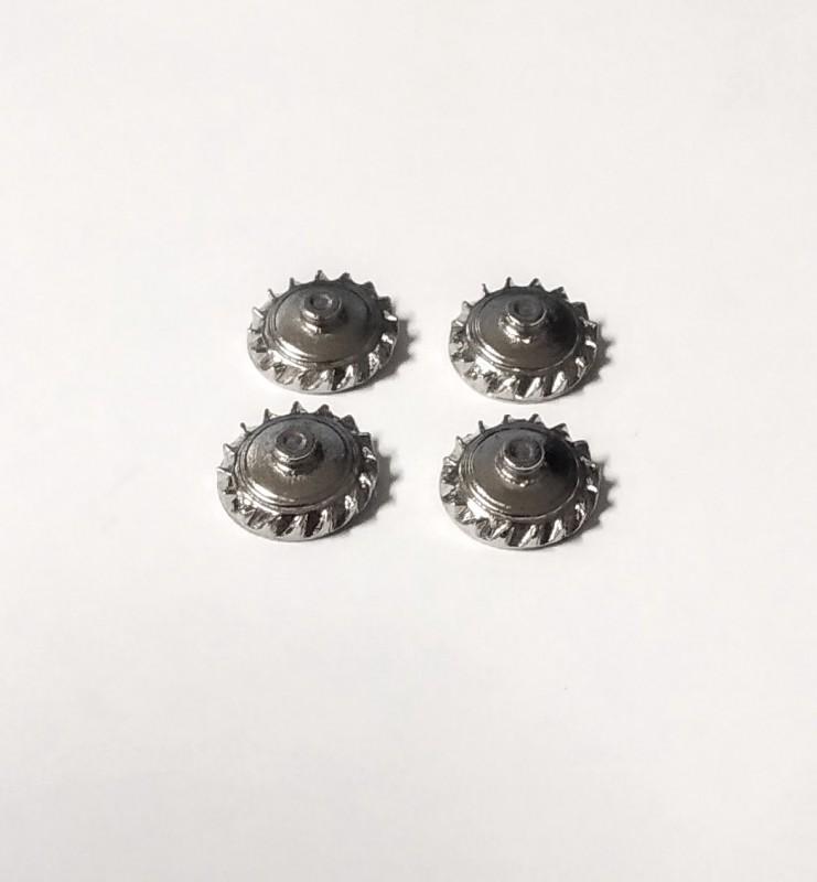 4 inserts pour Bugatti - White Metal Chromé - Ech 1:43