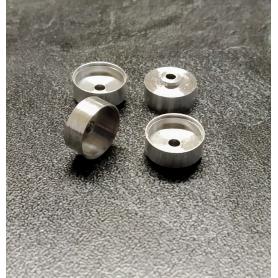 4 Jantes en Aluminium Ø 10.20 x 5mm -  Ech 1:43 - CPC Production