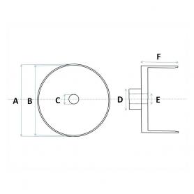 4 Jantes en Aluminium Ø10.20 mm X 7.60 - CPC