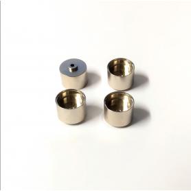 4 Jantes en laiton chromé Ø 10.20 x 8mm -  Ech 1:43 - CPC Production