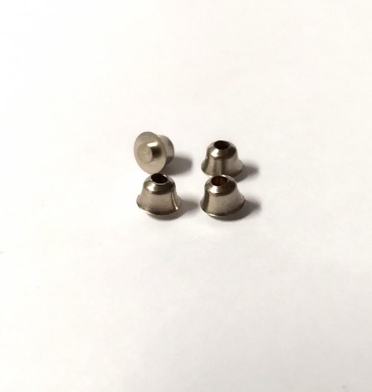 Embase ø4.30 mm en laiton nickelée  - Ech. 1:43 - X4