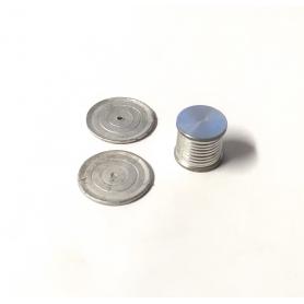 Dévidoir  Ø 13.90 mm en alu avec disques  Ø20.30mm - Ech 1:43