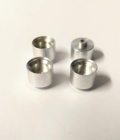 4 Jantes en Aluminium Ø 11.50 x 10 mm - Ech 1:43 - CPC Production