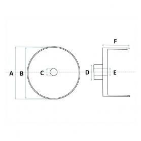 4 Jantes en Aluminium Ø 9.50 x 8.50 mm - Ech 1:43 - CPC Production