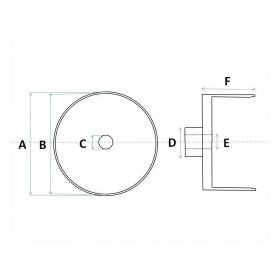 4 Jantes en Aluminium Ø 9.50 x 4.50 mm - Ech 1:43 - CPC