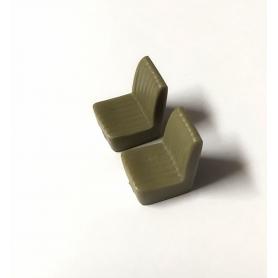 2 Sièges en résine - H. 17.30 x L 11.60 mm - 1:43