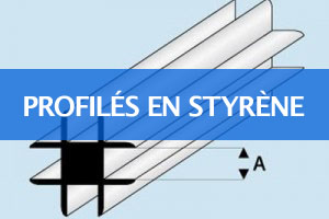Profilés en styrène blanc Maquett France