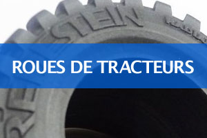 Roue pour tracteurs et remorques miniatures