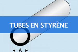 Tubes en styrène blanc Maqett France