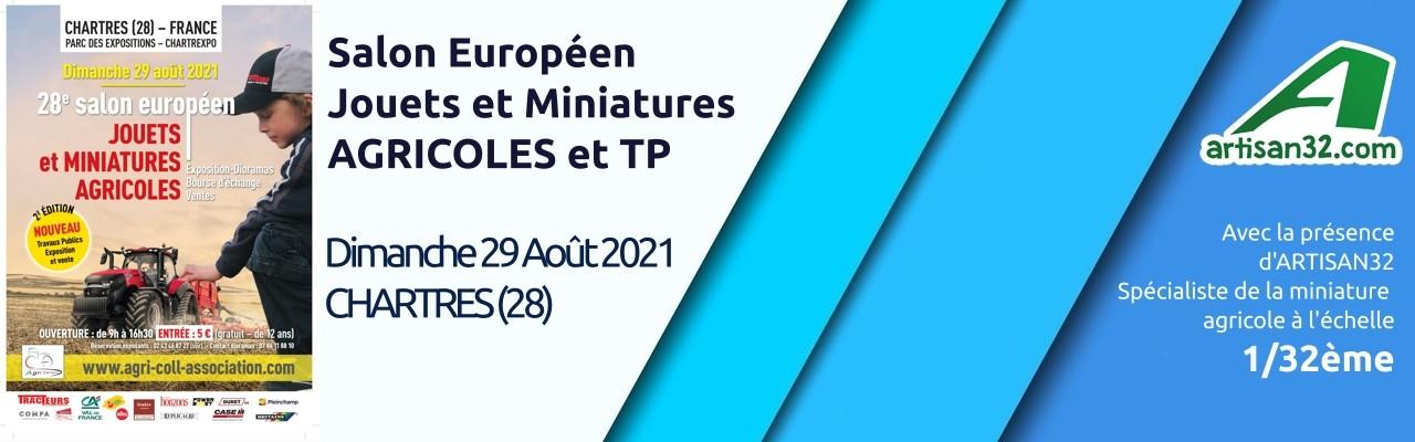 Chartres 2021 - Salon européen de la miniature agricole et Travaux Publics