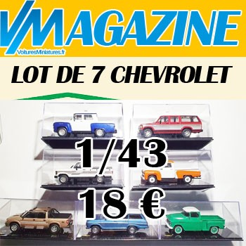 This lot of 7 Chevrolets for 18 € on Ebay