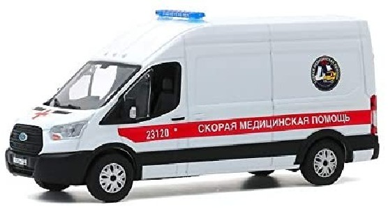 Ford Transit LWB High Roof Ambulance – St Petersbourg, Russie - 1:43 - GREENLIGHT