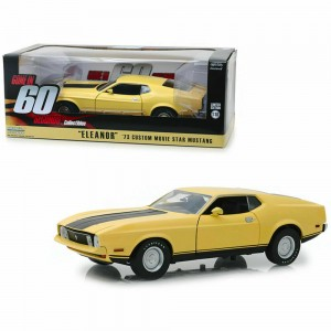 """GREENLIGHT - FORD MUSTANG MACH 1 ELEANOR 1971 """"60 SECONDES CHRONO"""" - 1:18"""