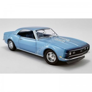ACME - CHEVROLET CAMARO SS COUPE UNICORN 1968 BLEUE- - Miniature autom