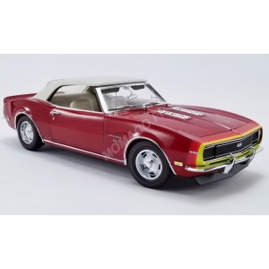 ACME - CHEVROLET CAMARO SS CONVERTIBLE UNICORN 1968 BORDEAUX- - Miniat